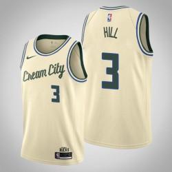 2019-20 Bucks George Hill & 3 Creme City Jersey