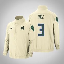 Männer George Hill Milwaukee Bucks & 3 Creme Stadt DNA in voller Schnapp Jacke
