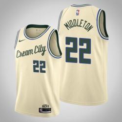 2019-20 Bucks Khris Middleton & 22 Creme City Jersey