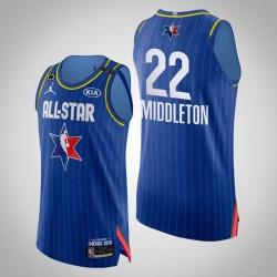Bucks Khris Middleton & 22 2020 NBA All-Star Game Authentic Blau Jersey