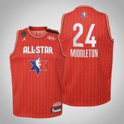 Jugendteam Giannis Khris Middleton & 24 Bucks Red 2020 NBA All-Star Game Jersey