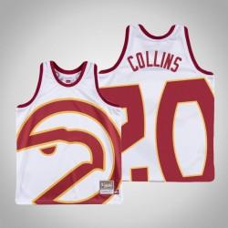 Männer Hawks John Collins & 20 White Big Gesicht Jersey