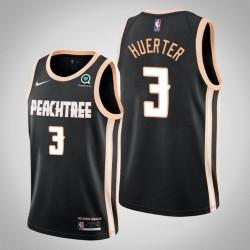 2019-20 Hawks Kevin Huerter & 3 Black City Jersey