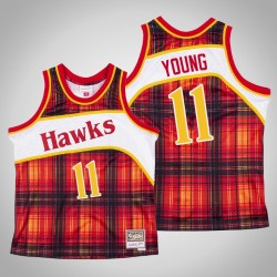 Männer Hawks Trae Young & 11 Red Private School Swingman Mitchell & Ness Holz Classics Jersey