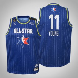 Jugend Atlanta Hawks Trae Young & 11 Blue 2020 NBA All-Star Game Jersey