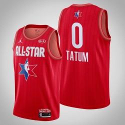 Boston Celtics Jayson Tatum & 0 2020 NBA All-Star Game Reserves Red Jersey