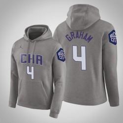Charlotte Hornets & 4 Devonte'Graham Stadt Grau 2020 Jahreszeit PulloverHoodie
