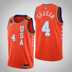 Charlotte Hornets Devonte'Graham & 4 2020 NBA Rising Star USA Mannschaft-orange Jersey