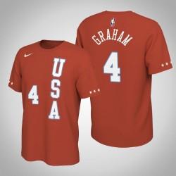 Charlotte Hornets Devonte'Graham & 4 2020 NBA Rising Star USA Team-Name und Nummer orange T-Shirt