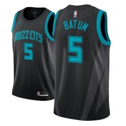 Jugend NBA 2018-19 Nicolas Batum Charlotte Hornets & 5 Stadt Edition Black Jersey