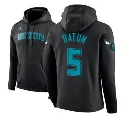 Männer Nicolas Batum Charlotte Hornets & 5 Black 2018 Stadt Ausgabe Hoodie