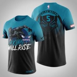 Hornissen Nicolas Batum & 5 Marvel Blau Wakanda für immer T-Shirt