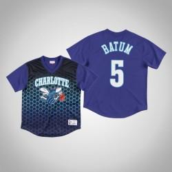 Charlotte Hornets Nicolas Batum & 5 Lila Spiel gewinnen Schuss T-Shirt