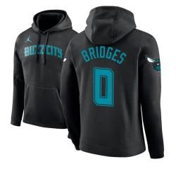 Männer Miles Bridges Charlotte Hornets & 0 Schwarz 2018 Stadt Ausgabe Hoodie
