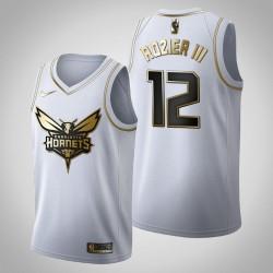 Charlotte Hornets Terry Rozier III & 12 Golden Edition Weiß Jersey