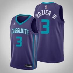 Männer Charlotte Hornets Terry Rozier III & 3 Lila Statement Jersey