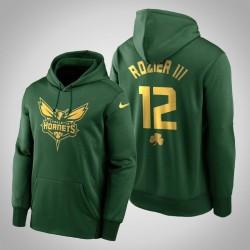 Terry Rozier III Hornets & 12 Green St. Patrick Day Golden Begrenzte PulloverHoodie
