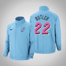 Männer Jimmy Butler Miami Heat # 22 Blue City DNA Vollschnapp Jacke