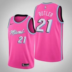 Männer Miami Heat Jimmy Butler # 21 Pink Swingman Trikot - verdient