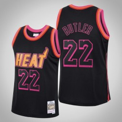 Hitze Jimmy Butler # 22 Black Ring-Sammlung Swingman Mitchell # Ness Trikot