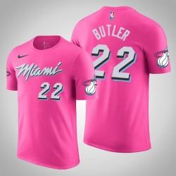 Männer Jimmy Butler Miami Heat # 22 verdient Rosa Name # Nummer T-Shirt