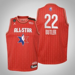 Jugend Miami Heat Jimmy Butler # 22 Red 2020 NBA All-Star Game Trikot
