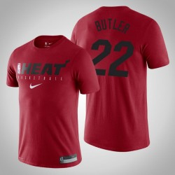 Miami Heat Jimmy Butler # 22 Red Wesentliche Praxis Performance-T-Shirt