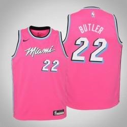 Jugend Jimmy Butler Miami Heat # 22 verdient Rosa Trikot