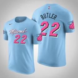 Miami Heat # 22 Jimmy Butler City Blue 2020 Saison Name # Nummer T-Shirt