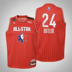 Jugendteam Giannis Jimmy Butler # 24 Runde Red 2020 NBA All-Star Game Trikot