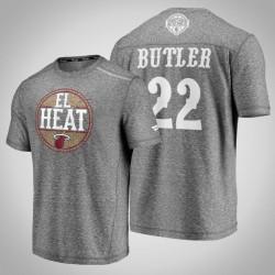 Hitze Jimmy Butler # 22 Latino Heritage Nacht Clutch Schießen melierte Grau-T-Shirt