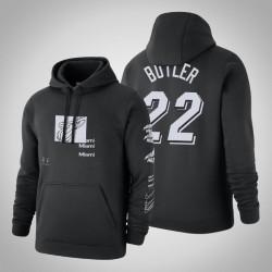 Heat # 22 Jimmy Butler Verzerrte Logo Pullover SchwarzesHoodie
