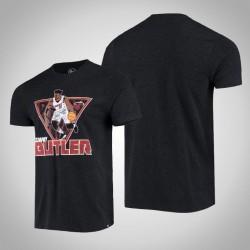 Hitze Jimmy Butler # 22 Spieler-Grafik-Schwarz-T-Shirt