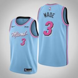 Männer Miami Heat Dwyane Wade & 3 Blau Vice Nacht Jersey - Stadt