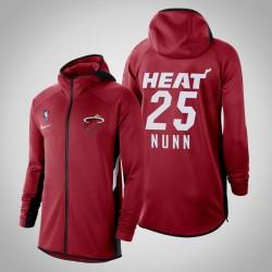Männer Kendrick Nunn Heat # 25 Red 2020 Saison Therma Flex Showtime Hoodie