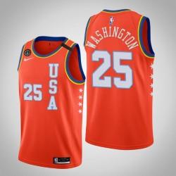 Miami Heat Kendrick Nunn # 25 2020 NBA Rising Star USA Mannschaft-orange Trikot