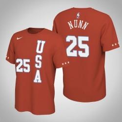 Miami Heat Kendrick Nunn # 25 2020 NBA Rising Star USA Team-Name und Nummer orange T-Shirt