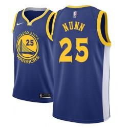 Männer NBA 2018-19 Kendrick Nunn Golden State Warriors # 25 Icon Royal Trikot