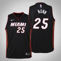 Jugend Kendrick Nunn Miami Heat # 25 Icon Schwarz 2020 Jahreszeit Trikot