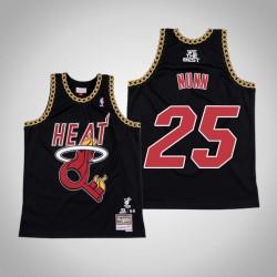 Kendrick Nunn # 25 Black DJ Khaled x Miami Heat Swingman Mitchell Ness Limited Trikot