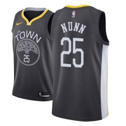 Männer NBA 2018-19 Kendrick Nunn Golden State Warriors # 25 Statement Schwarz Trikot