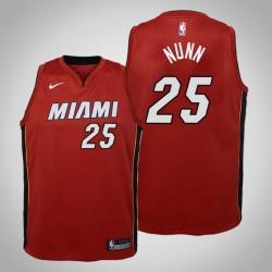 Jugend Kendrick Nunn Miami Heat # 25 Statement Red 2020 Saison Trikot