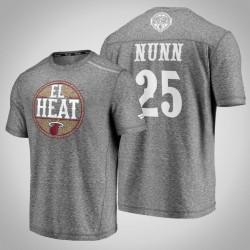 Hitze Kendrick Nunn # 25 Latino Heritage Nacht Clutch Schießen melierter-Grau-T-Shirt