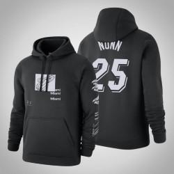 Heat # 25 Kendrick Nunn Verzerrte Logo Pullover SchwarzesHoodie