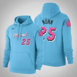 Miami Heat # 25 Kendrick Nunn City Blue 2020 Jahreszeit PulloverHoodie