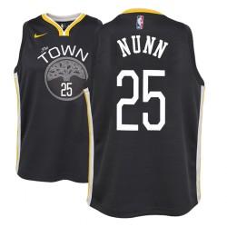 Jugend NBA 2018-19 Kendrick Nunn Golden State Warriors # 25 Statement Schwarz Trikot