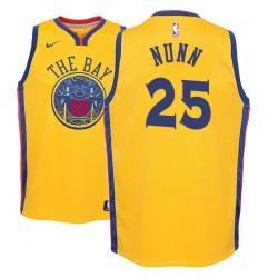Jugend NBA 2018-19 Kendrick Nunn Golden State Warriors und 25 City Gold Jersey