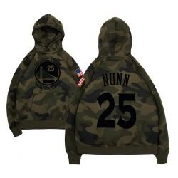 Männer Kendrick Nunn Golden State Warriors & 25 Camo Military Name & Nummer Hoodie