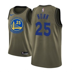 Kendrick Nunn Golden State Warriors & 25 Black Camo Military Fashion Swingman Jersey