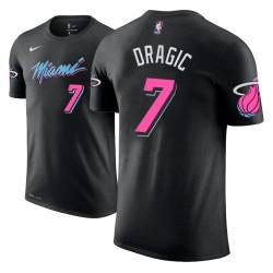Männer Goran Dragic Miami Heat # 7 Stadt Edition Black Name # Nummer T-Shirt